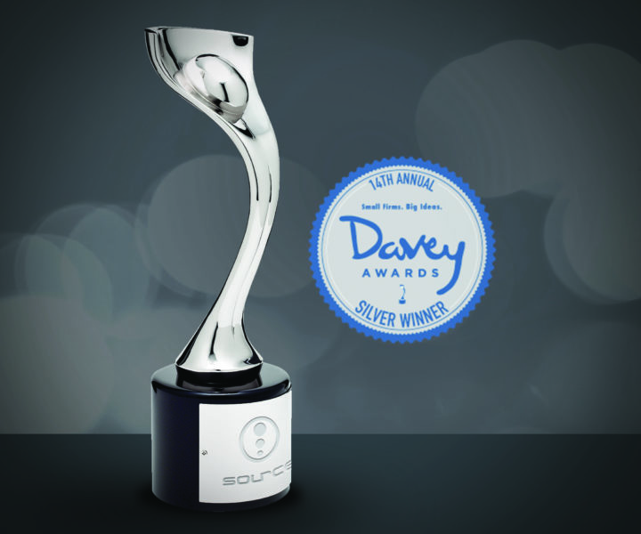 2019 rolled in with some exciting news from the 14th Annual Davey Awards. Source received three silver awards at this international creative competition. The Davey focuses exclusively on honoring outstanding creative work from the best small agencies worldwide.